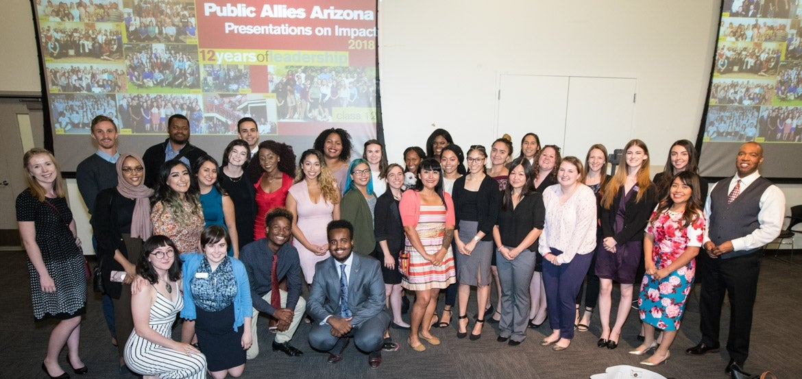 2017-18 Public Allies at the Presentations on Impact