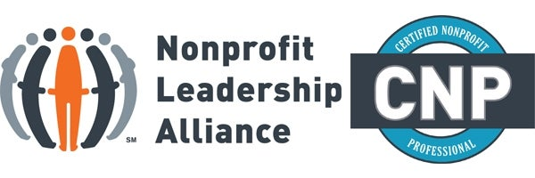 Nonprofit Leadership Alliance and Certified Nonprofit Professional logos